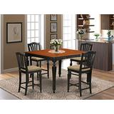5 Pc counter height set- Square gathering Table and 4 counter height Chairs