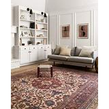 """Loloi Loren Collection Vintage Printed Persian Area Rug 1'-6"""" x 1'-6"""" Square Swatch Sand/Multi"""