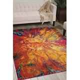 """Nourison Celestial Modern Bohemian Cayenne Multicolored Area Rug 3 Feet 11 Inches by 5 Feet 11 Inches, 3'11"""" x 5'11"""""""