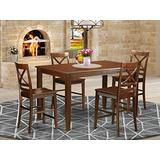 5 Pc counter height pub set - Small Kitchen Table and 4 counter height Chairs.
