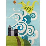 Momeni Lil Mo Whimsy Collection Area Rug, 3' x 5', Sky