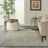 """Nourison Euphoria Traditional Rustic Vintage Grey Area Rug 3 Feet 11 Inches by 5 Feet 11 Inches, 3'11"""" x 5'11"""""""
