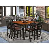 9 PC counter height set- Square Counter height Table and 8 Stools