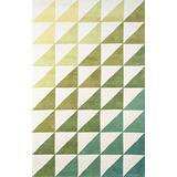 """Novogratz Delmar Collection Agatha Side Triangles Area Rug, 9'0"""" x 12'0"""", Lime Green"""