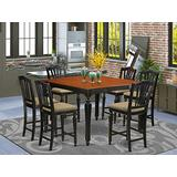 7 Pc Counter height Table set-Square pub Table and 6 counter height Chairs