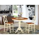 3 Pc counter height Dining room set - high top Table and 2 counter height Chairs.