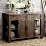 Furniture of America CM3562SV Colettte Rustic Oak Server Dining Room Buffet