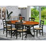 7 PC Dining room set-Dining Table with 6 Wooden Dining Chairs