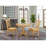 East West Furniture Kitchen Table Set- 2 Amazing Wooden Dining Chairs - An Attractive Modern Dining Table- Wooden Seat and Oak Dining Table