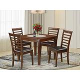 5 PC Kitchen dinette set with a Dining Table and 4 Dining Chairs in Mahogany