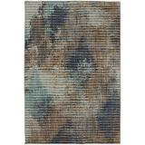 Mohawk Muse Wireframe Lagoon Striped Woven Area Rug, 8'x11', Blue and Brown