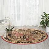 """Nourison Delano Traditional Oriental Persian Multicolor Area Rug, 5'3"""" x 5'3"""" Round"""