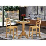 3 Pc counter height set-pub Table and 2 counter height Chairs