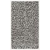 "Safavieh Marbella Collection MRB657A Handmade Chenille Accent Rug, 2'3"" x 4', Dark Grey / Ivory"