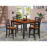 5 PC counter height Dining set- Square Counter height Table and 4 Dining Chairs