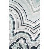 """Novogratz Delmar Collection Agate Area Rug, 3'6"""" x 5'6"""", Blue"""