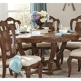 """Homelegance Norhill 60"""" Round Dining Table, Pecan"""