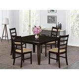 5 Pc Dining set-Table with Leaf and 4 Kitchen Chairs.