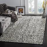 Safavieh Marbella Collection MRB657G Handmade Chenille Area Rug, 8' x 10', Ivory / Black