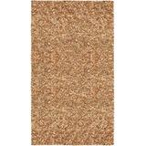Pelle Leather Shag Rug, 30-Inch by 50-Inch, Tan