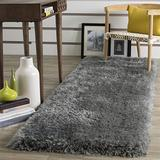 """Safavieh Luxe Shag Collection SGX160C Handmade Glam 3.2-inch Extra Thick Runner, 2'3"""" x 6' , Grey"""