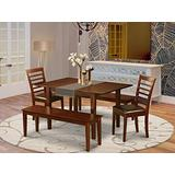 5 PC Dining room set with bench -Table with 2 Dining Table Chairs and 2 Benches