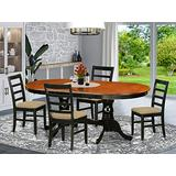 5 PC Dining room set-Dining Table with 4 Wood Dining Chairs