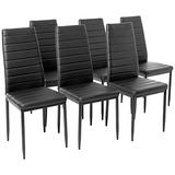 IDS Online Modern Style with Black PU Leather Dining Side Chair with Foot Pad