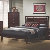 Coaster Home Furnishings Serenity Platform Cut-Out Headboard Rich Merlot California King Bed