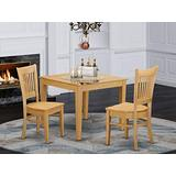 3 PC Small Kitchen Table set - Small Kitchen Table and 2 Dining Chairs