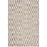 Safavieh Wilton Collection WIL105A Hand-Hooked Wool Area Rug, 4' x 6', Grey / Ivory
