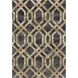 Art Carpet Bastille Collection Fretwork Border Woven Area Rug, 5' x 8', Gray/Soft Yellow