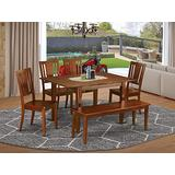 6 Pc dinette set-breakfast nook and 4 Chairs for Dining room and Dining Bench