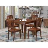 5 PC Kitchen Tables and chair set with a Dining Table and 4 Dining Chairs in Mahogany