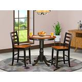 3 Pc counter height set - high Table and 2 Kitchen Chairs.