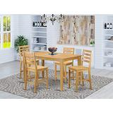 5 PC counter height Dining room set-pub Table and 4 Kitchen Dining Chairs.