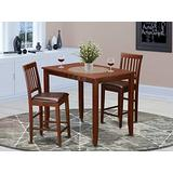 3 Pc counter height Dining set-counter height Table and 2 Kitchen Chairs.