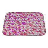 """Gear New No Slip Microfiber Memory Foam Tile Pattern with White Red Orange Pink and Violet Triangle Mosaic Bath Rug Mat, 24"""" x 17"""""""