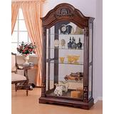 ACME Denton Curio Cabinet - - Cherry