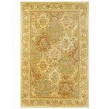 Herat Oriental Indo Tabriz Hand-Tufted Wool Rug, 5' 3 x 8'2, Ivory/Gold