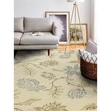 Bashian Valencia Collection AL104 Hand Tufted 100% Wool Area Rug, 3.6' x 5.6', Ivory