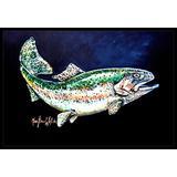 "Caroline's Treasures Deep Blue Rainbow Trout Indoor or Outdoor Mat 24x36 MW1213JMAT 24"" x 36"" Multicolor"
