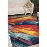 """Nourison Celestial Modern Bohemian Burst Multicolored Area Rug 3 Feet 11 Inches by 5 Feet 11 Inches, 3'11"""" x 5'11"""""""