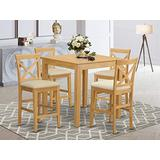 5 PC counter height Table and chair set - counter height Table and 4 dinette Chairs.