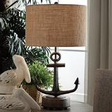 Crestview Collection Wharf Anchor Black Table Lamp