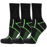 Fitsok ISW Isolwool Trail Cuff 3 Pack Socks Charcoal