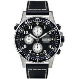 Xezo Men's Air Commando Diver Pilot Swiss Automatic Valjoux 7750 Luxury Chronograph Waterproof Wrist Watch with Leather Band. 2 Time Zones, AIR Commando D45 7750-1