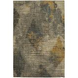 Mohawk Muse Wireframe Mustard Striped Woven Mustard Area Rug, 8'x11', Gray and Yellow