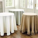 "Essential Tablecloth Natural Linen 108"" - Ballard Designs"