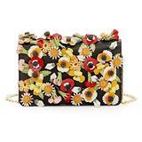 Prada Saffiano Garden Floral Applique Misto Designer Crossbody Bag for Women 1BP006